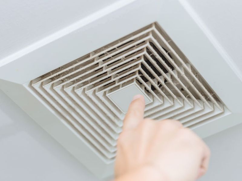 Residential air duct cleaning with dust in the vent in Elizabethtown, PA