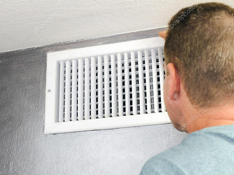 Air Duct mold removal in Reading, PA, getting inspected